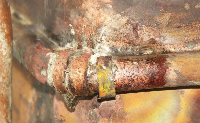 Протекает теплообменник газовой колонки пластинчатый теплообменник 100 литров в час цена