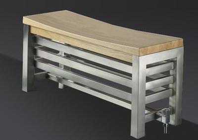 Радиатор отопления в форме скамейки