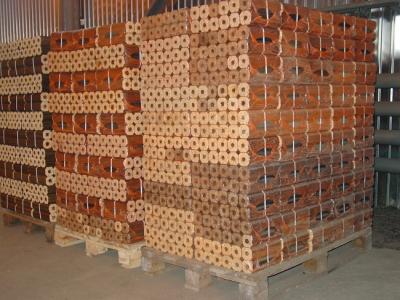 Складирование топливных брикетов