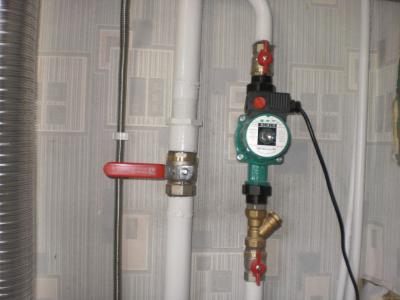 Установка водяного насоса в систему отопления