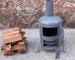 Экономичная печь на дровах своими руками