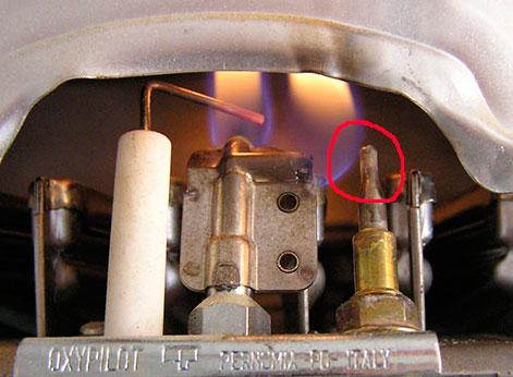 Датчик температуры в газовой колонке