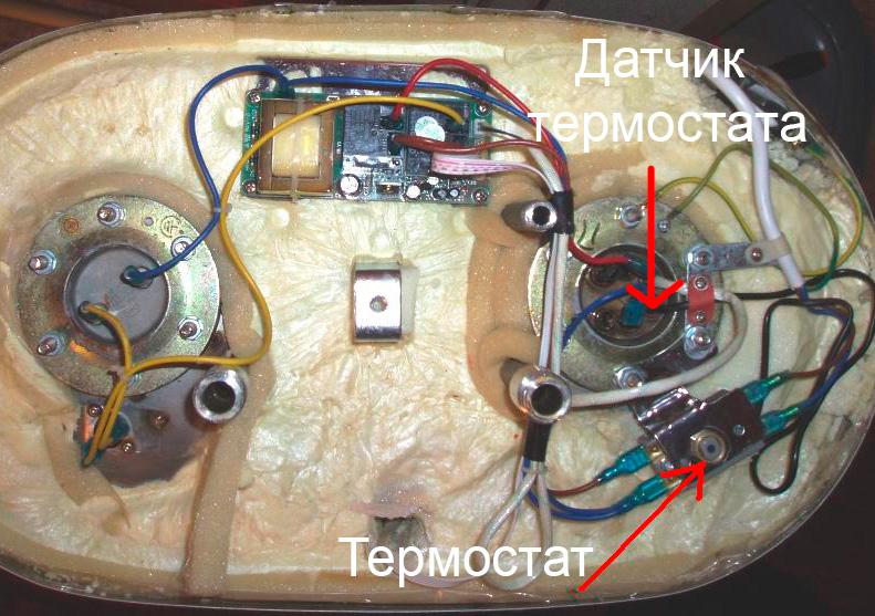 Термостат и его датчик в водонагревателях Термекс