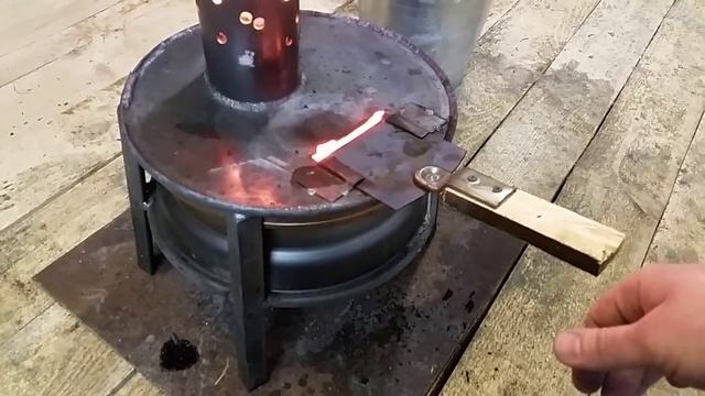 Как сделать из дисков печку