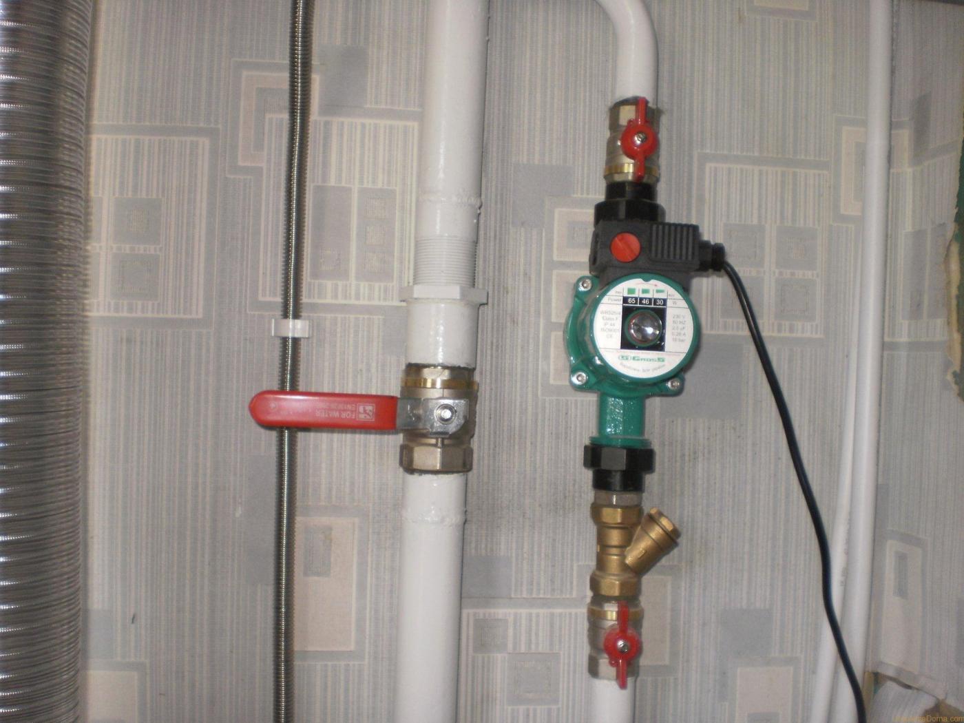 Установка насоса в системе отопления, как правильно 98