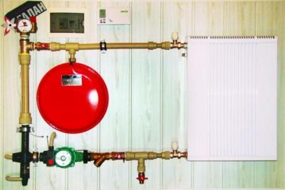 Миниатюрная отопительная система с электродным котлом Галан