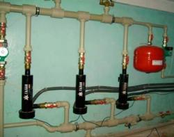 Отопительная система с электрокотлами