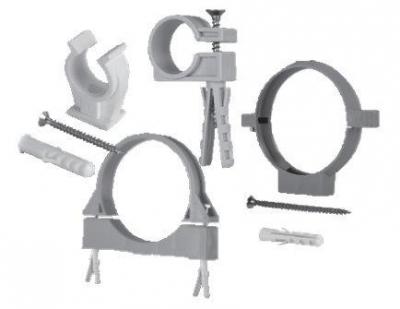 Пластиковый крепеж для труб